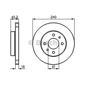 BOSCH 0 986 478 533 Тормозной диск