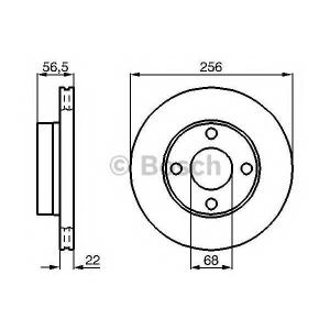 BOSCH 0 986 478 550 Тормозной диск Ауди Кабриолет