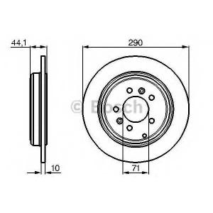 BOSCH 0986478556 Тормозной диск