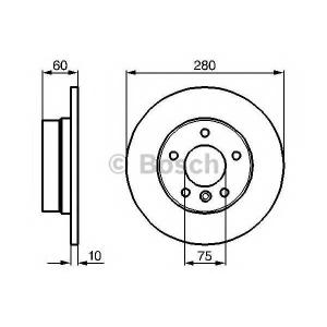 Тормозной диск 0986478561 bosch - BMW 3 (E46) седан 316 i
