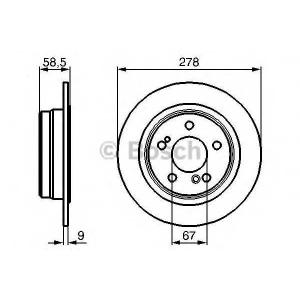 BOSCH 0 986 478 565 Тормозной диск Мерседес 190