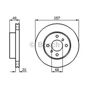 Тормозной диск 0986478567 bosch - NISSAN SKYLINE купе (R33) купе 2.0