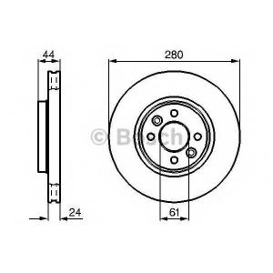 Тормозной диск 0986478590 bosch - RENAULT LAGUNA Grandtour (K56_) универсал 1.6 16V (K568)