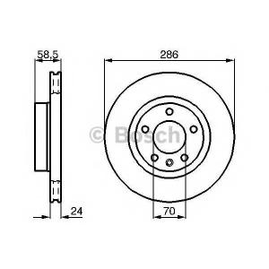 Тормозной диск 0986478594 bosch - OPEL OMEGA B (25_, 26_, 27_) седан 2.0