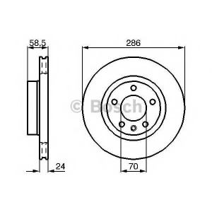 BOSCH 0986478594 Гальмівний диск OPEL Omega F