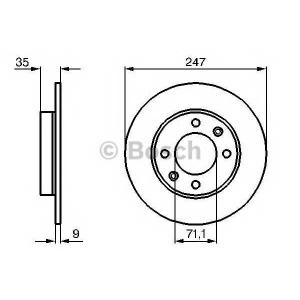 BOSCH 0986478608 Гальмівний диск PEUGEOT CITROEN 307, C2, C3 R