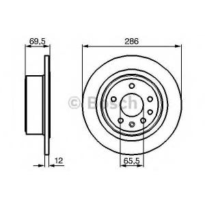 Тормозной диск 0986478609 bosch - OPEL OMEGA B (25_, 26_, 27_) седан 3.0 V6