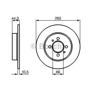 BOSCH 0 986 478 611 Тормозной диск Рено Лагуна