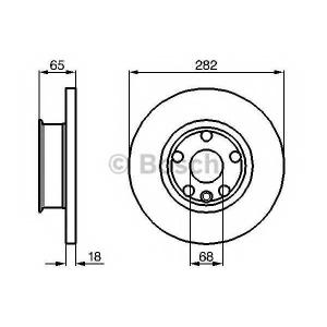 BOSCH 0986478613 Гальмівний диск VW California, Caravelle, Multivan, Transporter T4 F