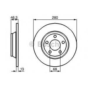 BOSCH 0986478615 Гальмівний диск AUDI A4 F