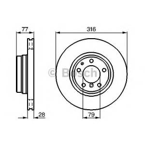 0986478622 bosch Тормозной диск BMW 7 седан 730 d