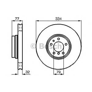 BOSCH 0 986 478 623 Тормозной диск Бмв З8