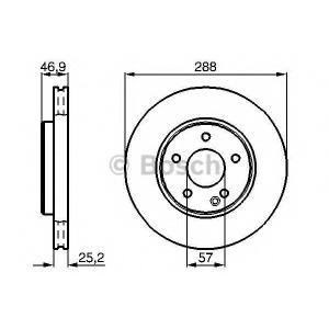 BOSCH 0986478624 Гальмівний диск MB W202 W203 W210 F