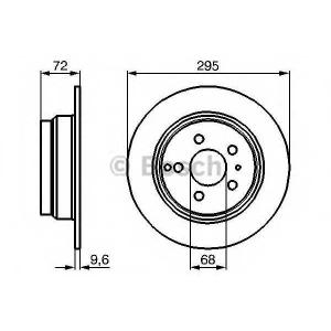 BOSCH 0986478628 Тормозной диск