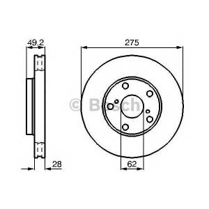 BOSCH 0 986 478 632 Диск тормозной (пр-во Bosch)
