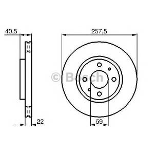 BOSCH 0986478639 Гальмівний диск CITROEN/FIAT/PEUGEOT Nemo/500/500C/Bravo/Doblo/Fiorino/Panda/Stilo/Bipper F \02>>