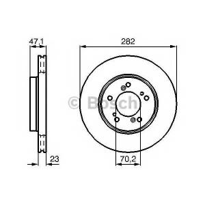 BOSCH 0 986 478 667 Тормозной диск Хонда Хрв