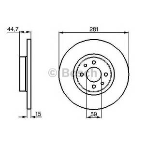 BOSCH 0986478677 Brake disc