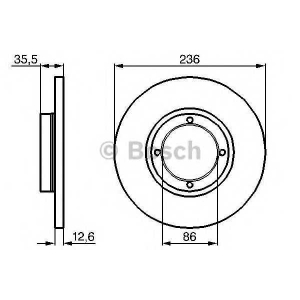Тормозной диск 0986478712 bosch - DAEWOO MATIZ (KLYA) Наклонная задняя часть 0.8