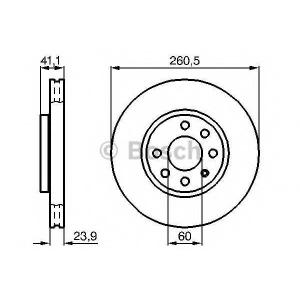 BOSCH 0 986 478 730 Диск тормозной (пр-во Bosch)