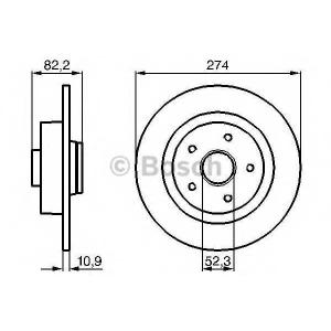 Тормозной диск 0986478744 bosch - RENAULT LAGUNA II (BG0/1_) Наклонная задняя часть 1.8 16V (BG0B, BG0C, BG0J, BG0M, BG0V)