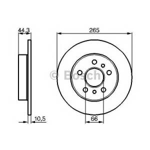 BOSCH 0 986 478 757 Тормозной диск Рено Лагуна