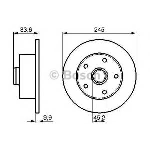 BOSCH 0986478759 Гальмівний диск AUDI A4 R