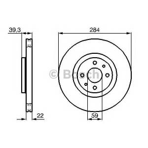 BOSCH 0 986 478 786 Тормозной диск Фиат Типо