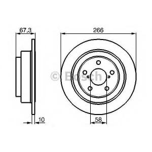 Тормозной диск 0986478799 bosch - SUBARU FORESTER (SG) вездеход закрытый 2.0 S Turbo