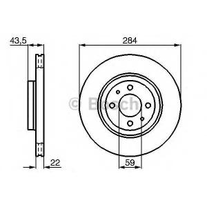 BOSCH 0 986 478 810 Тормозной диск Лансия