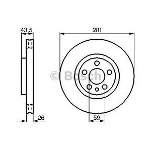 Тормозной диск 0986478812 bosch - CITRO?N JUMPY (U6U) вэн 2.0 HDi 110