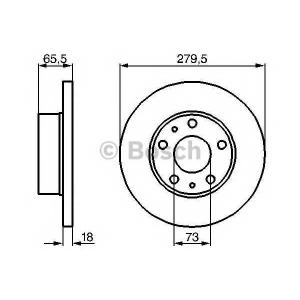 BOSCH 0 986 478 843 Тормозной диск Фиат Дукато