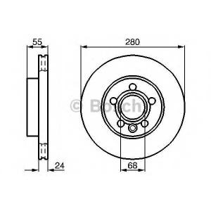 BOSCH 0986478846 Гальмівний диск VW Transporter T4 F