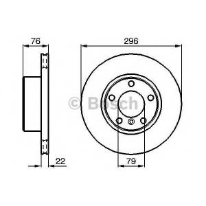 BOSCH 0 986 478 848 Диск тормозной BMW 5 (E39) передн., вент. (пр-во Bosch)