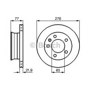 BOSCH 0 986 478 849 Тормозной диск Мерседес Спринтер 2Т