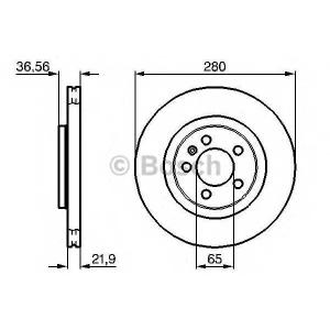 Тормозной диск 0986478852 bosch - SKODA FABIA Combi (6Y5) универсал 2.0