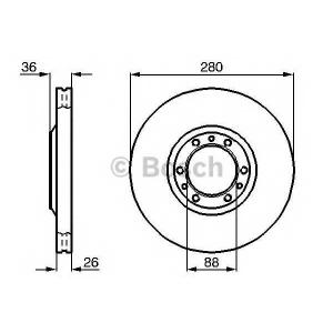 BOSCH 0 986 478 854 Диск тормозной OPEL FRONTERA передн., вент. (пр-во Bosch)