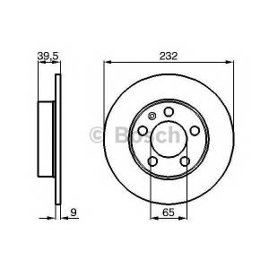 0986478868 bosch Тормозной диск VW BORA седан 2.0