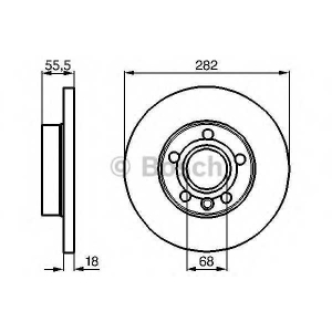 BOSCH 0986478870 Гальмівний диск VW California, Caravelle, Eurovan, Multivan, Transporter T4 F