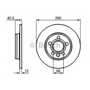BOSCH 0986478871 Гальмівний диск VW California, Caravelle, Eurovan, Multivan, Transporter T4 R