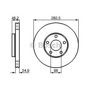 Тормозной диск 0986478872 bosch - VW PASSAT (3B2) седан 1.6