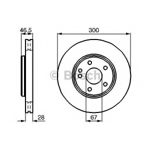 BOSCH 0986478876 Гальмівний диск MB W203 W210 F