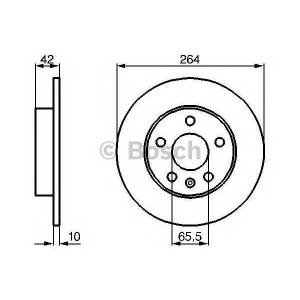 BOSCH 0986478884 Гальмівний диск OPEL Opel Astra G/H (2004->)/ Zafira A/B (1999->) / Meriva CDTI (2003>>) R