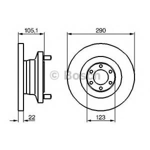 BOSCH 0986478885 Тормозной диск
