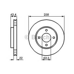 Тормозной диск 0986478892 bosch - FORD PUMA (EC_) купе 1.6 16V