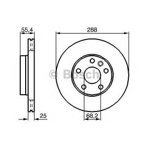 Тормозной диск 0986478893 bosch - FORD GALAXY (WGR) вэн 1.9 TDI
