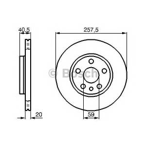 BOSCH 0 986 478 896 Тормозной диск (пр-во Bosch)