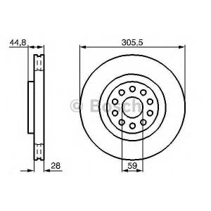 BOSCH 0 986 478 963 Тормозной диск Лансия