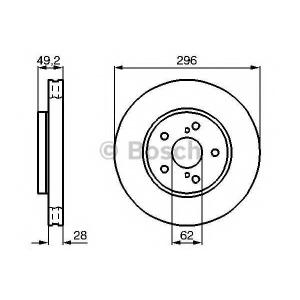 BOSCH 0 986 478 968 Тормозной диск (пр-во Bosch)