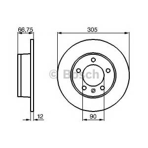 BOSCH 0 986 478 970 Тормозной диск (пр-во Bosch)
